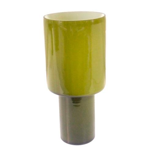 Vaso Fendi II Green em Vidro - 40x18 cm