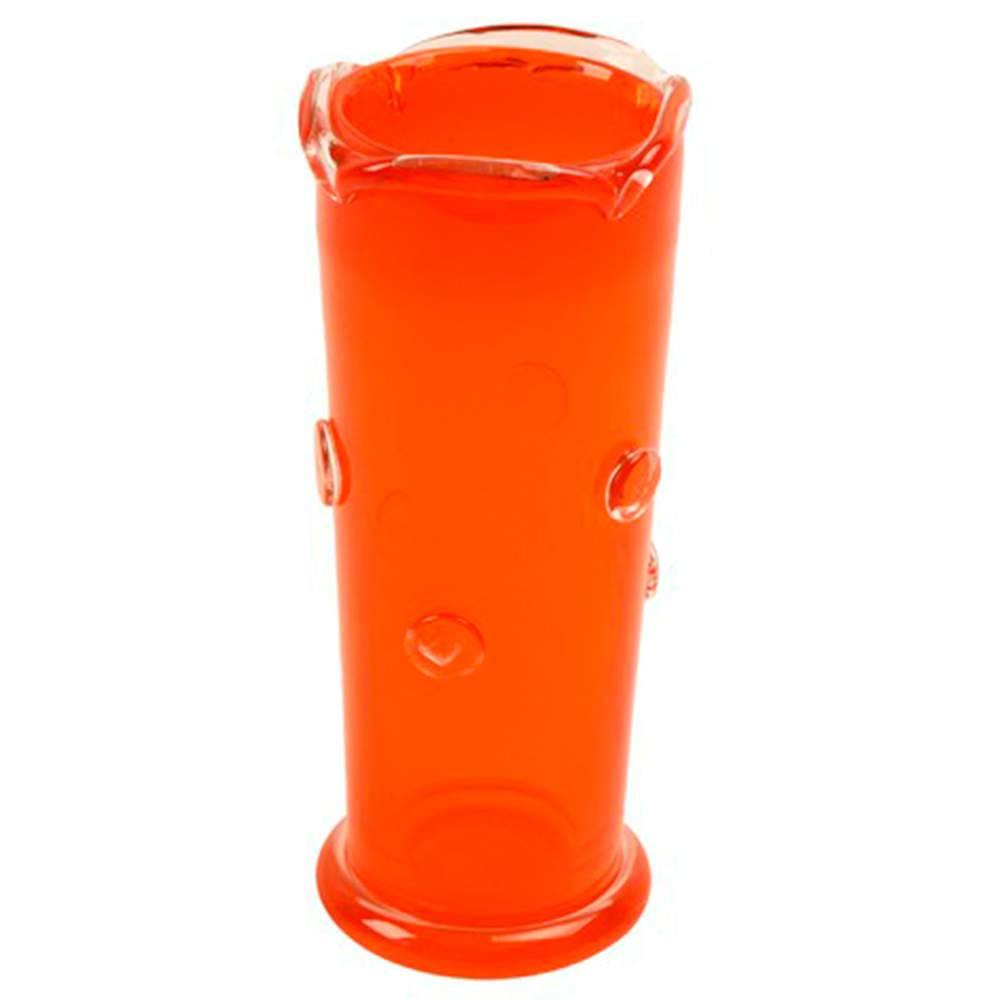 Vaso Fini Pequeno Laranja em Vidro - 25x10 cm