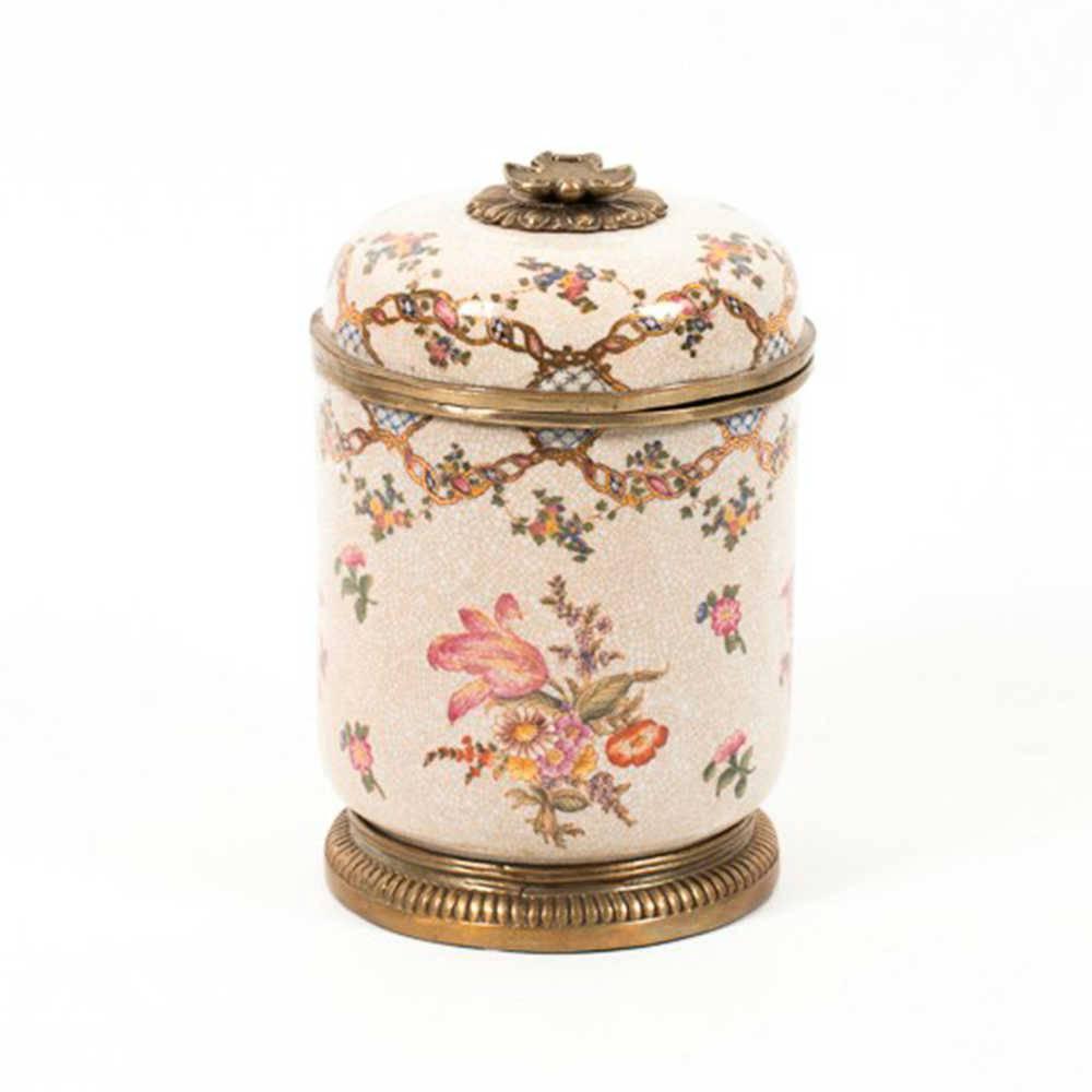 Vaso Florence em Porcelana Pintada a Mão - 20x13 cm
