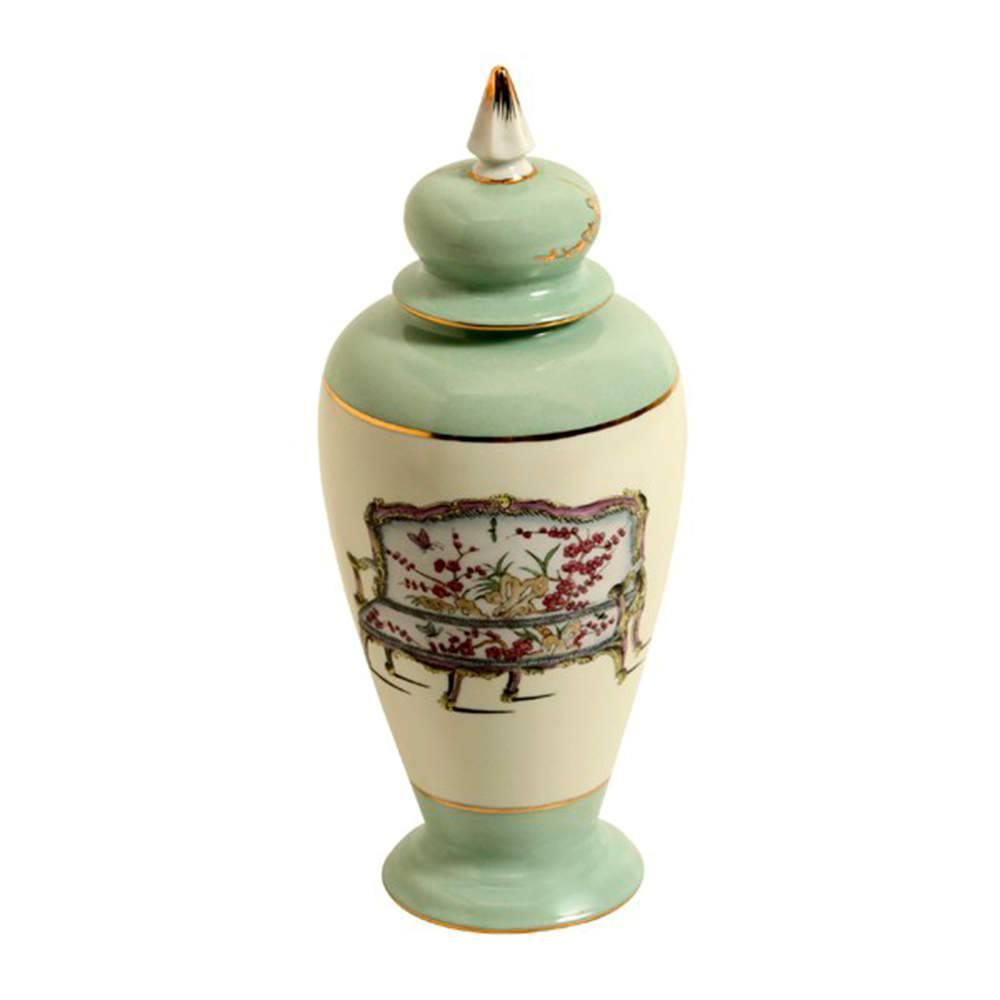 Vaso Flower Verde Claro em Porcelana - 26x11 cm