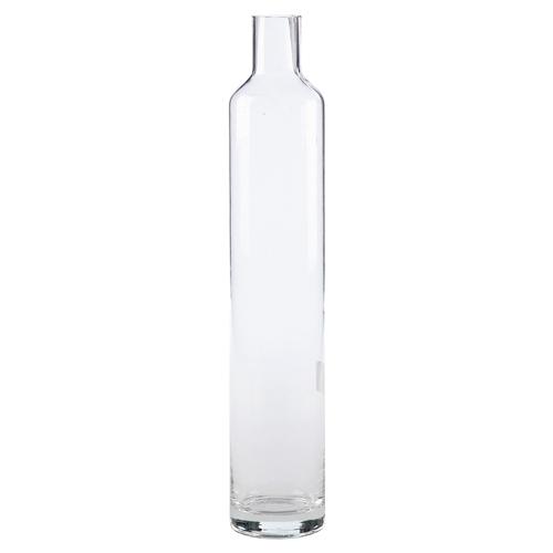 Vaso Garrafa Model Transparente em Vidro - 40x7 cm