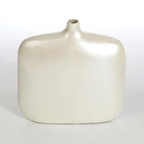 Vaso Garrafa Prata em Vidro - 19x18 cm