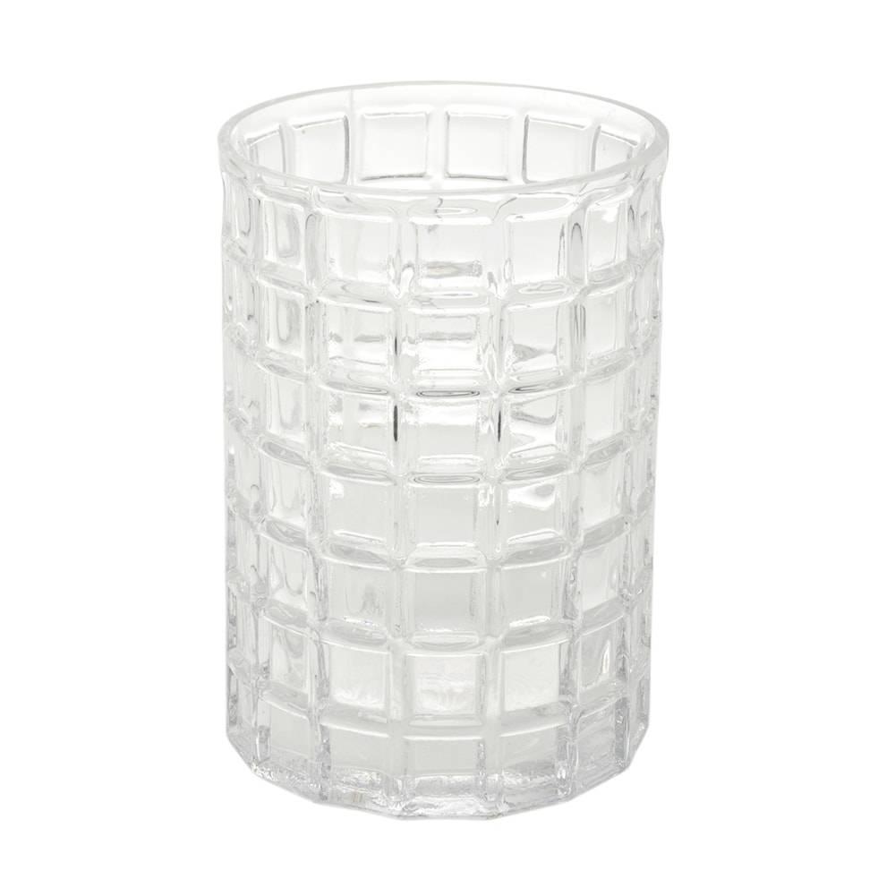 Vaso Geruit Redondo Médio Transparente em Vidro - 18x13 cm