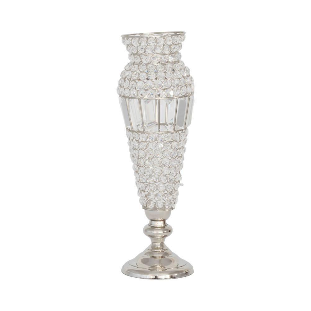 Vaso Glamour Pedestal em Cristal - Wolf - 52,2 cm