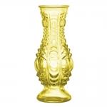 Vaso Gota de Sol com Estrutura Detalhada em Vidro - 16x7 cm
