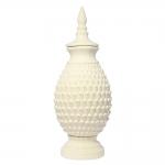 Vaso Ivory Astana Grande Bege em Cerâmica - 54,5x21 cm