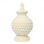 Vaso Ivory Astana Médio Bege em Cerâmica - 38x21 cm