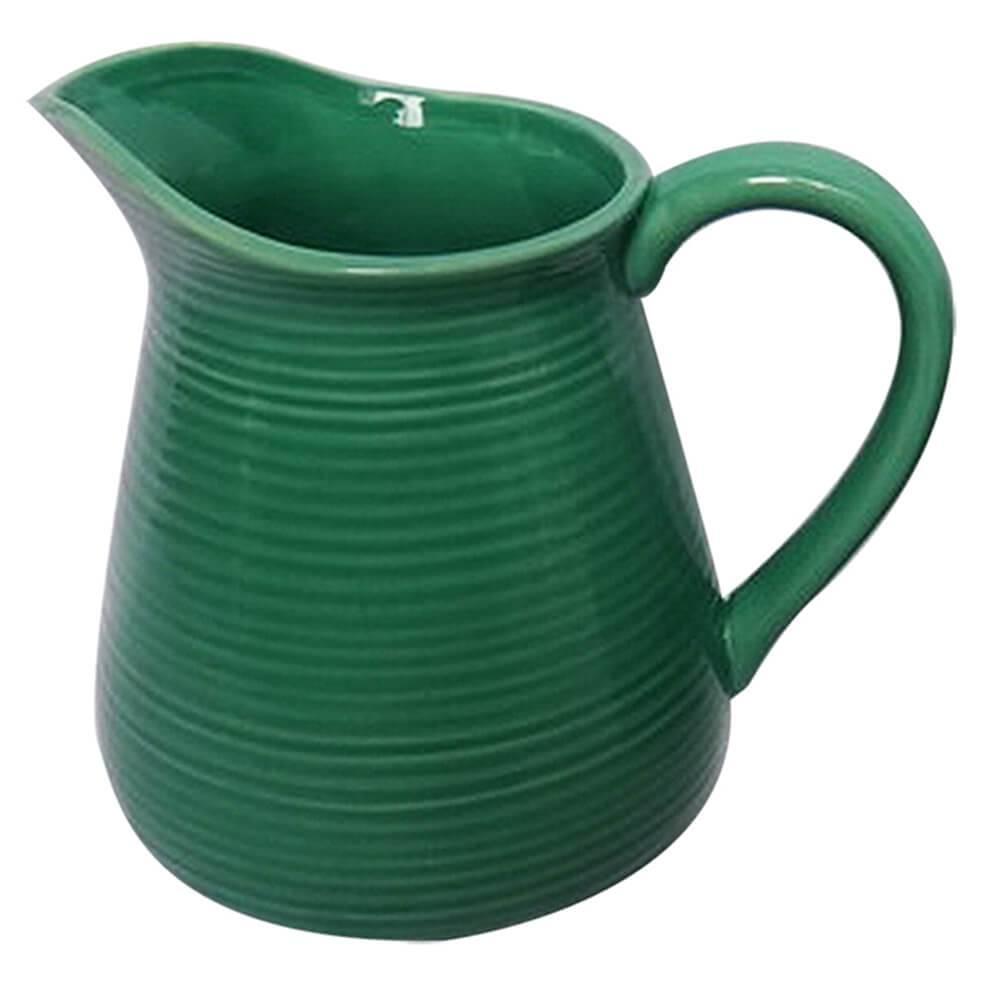 Vaso Jarra Verde Grande em Cerâmica - Urban - 19,5x17,5 cm