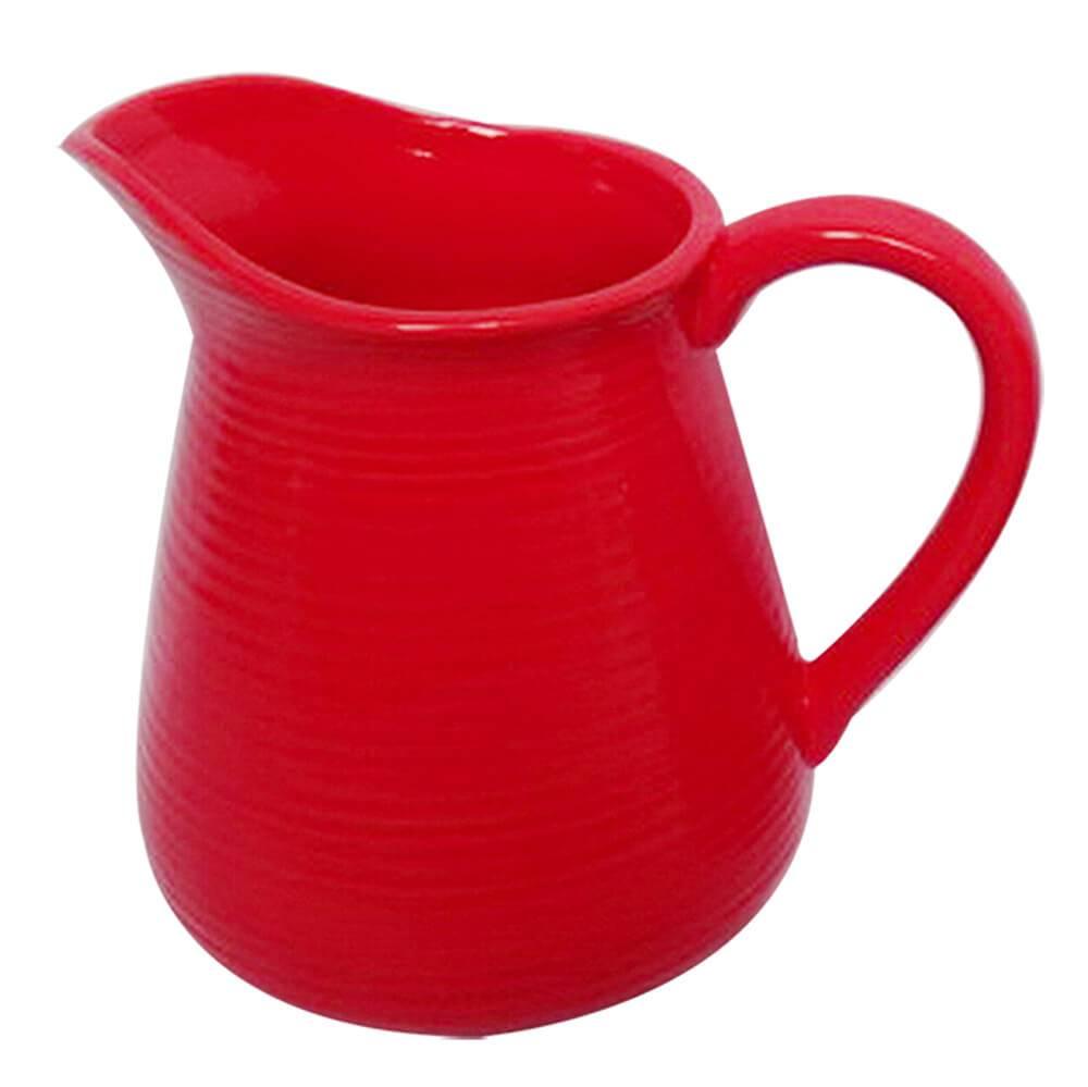 Vaso Jarra Vermelho Grande em Cerâmica - Urban - 19,5x17,5 cm