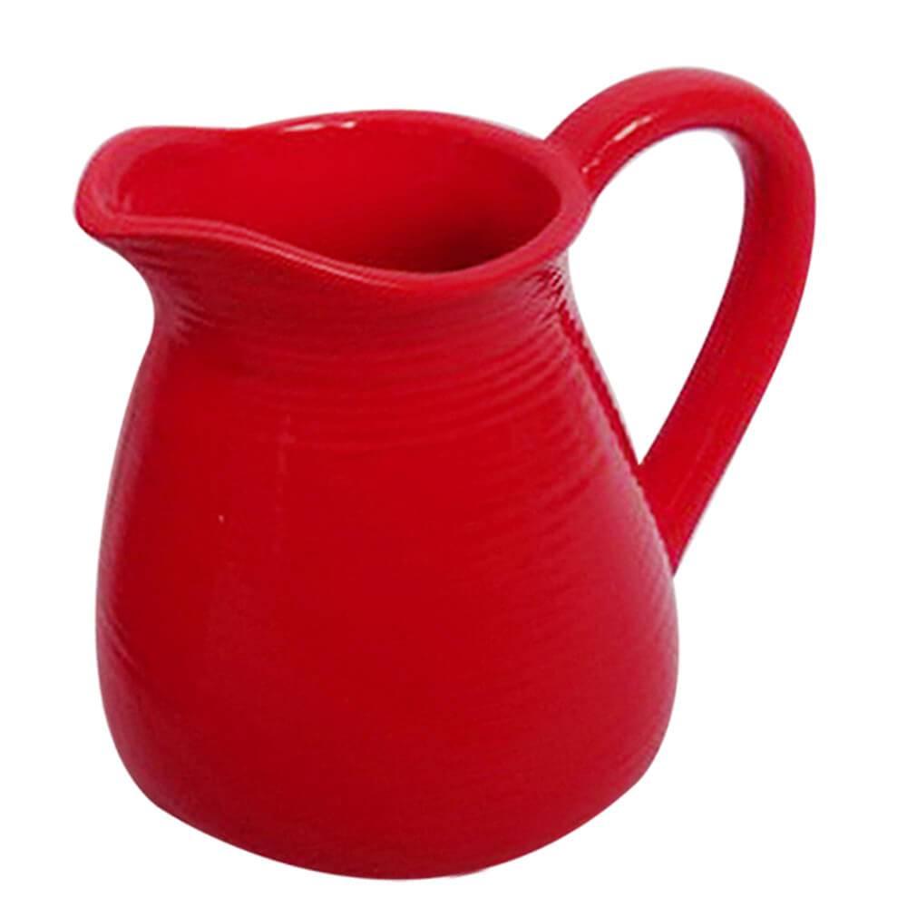 Vaso Jarra Vermelho Pequeno em Cerâmica - Urban - 15,5x14 cm
