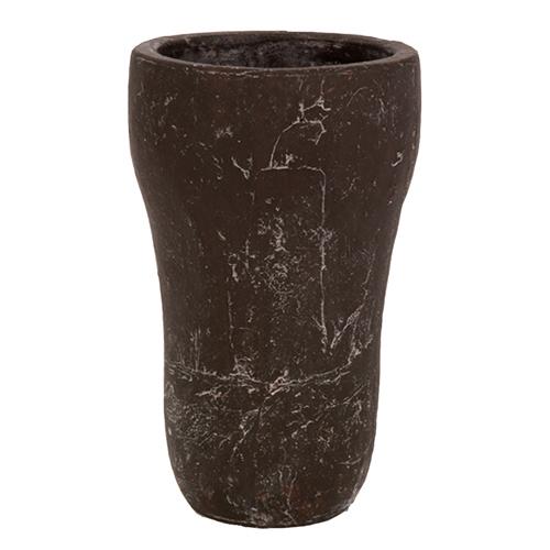 Vaso Lana Redon Marrom em Cerâmica - 25x16 cm