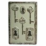 Vaso Le Cle Tree Keys Grande Creme em Cerâmica - Urban - 28x18,5 cm