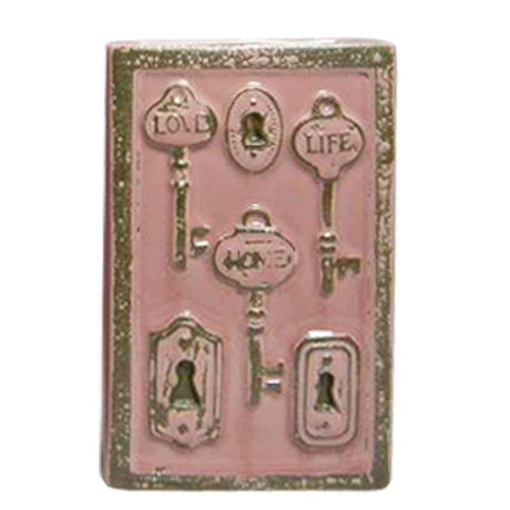 Vaso Le Cle Tree Keys Pequeno Rosa em Cerâmica - Urban - 23x15 cm