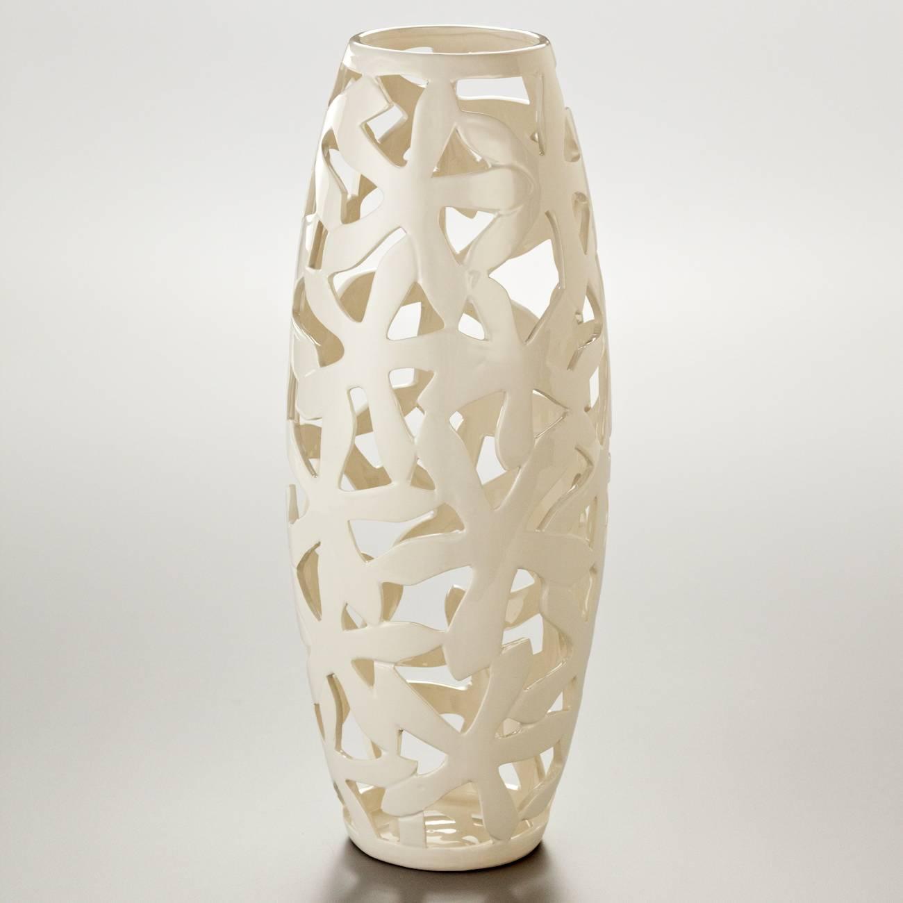 Vaso Lima em Cerâmica Bon Gourmet - 40,2x15,6 cm