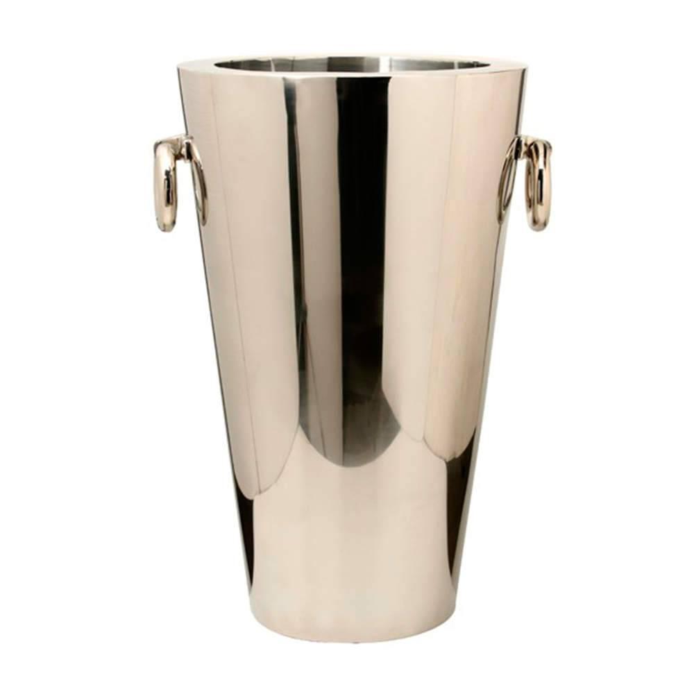 Vaso Liso Grande com Alças em Aço Inox - 85x57 cm