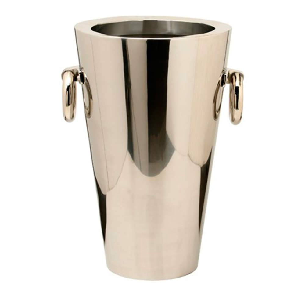 Vaso Liso Médio com Alças em Aço Inox - 60x47 cm