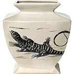 Vaso Lizzard Grande em Cerâmica - 38x34 cm
