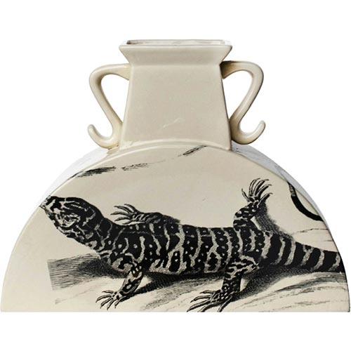 Vaso Lizzard Médio em Cerâmica - 25x33x12 cm