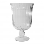 Vaso Mannheim Grande em Vidro Transparente - 33x21 cm