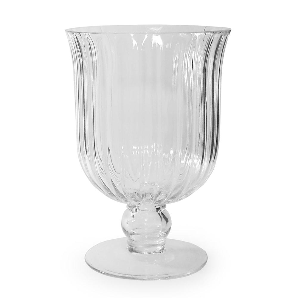 Vaso Mannheim Médio em Vidro Transparente - 25x18 cm