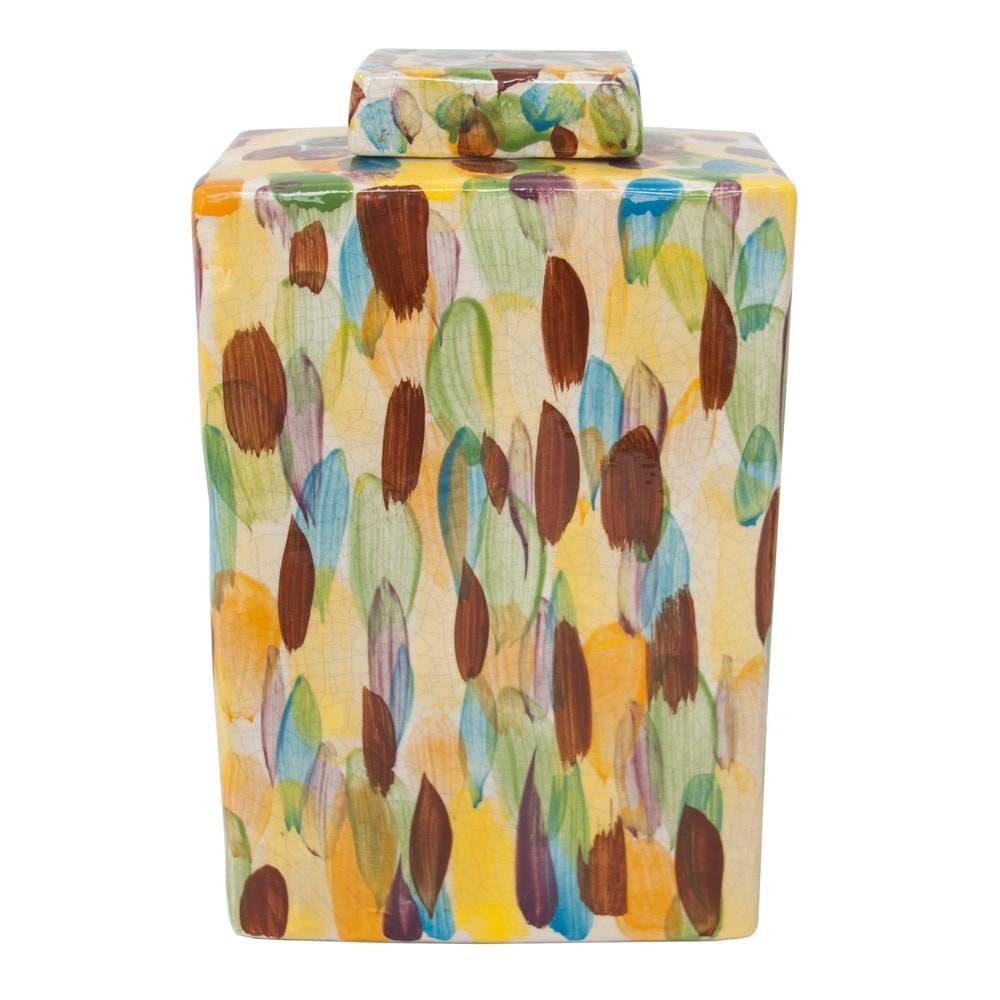 Vaso Mistic Colorido Grande em Cerâmica - 31x19 cm