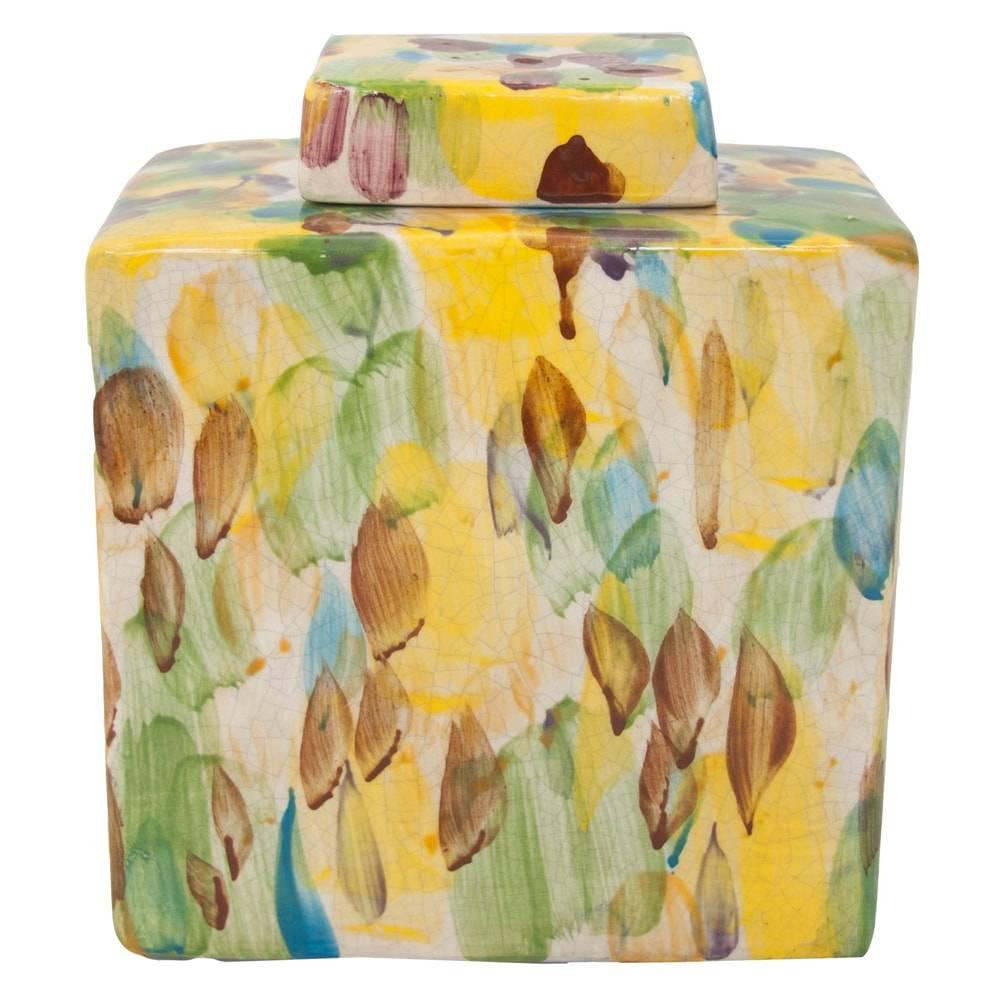 Vaso Mistic Colorido Médio em Cerâmica - 21x18 cm