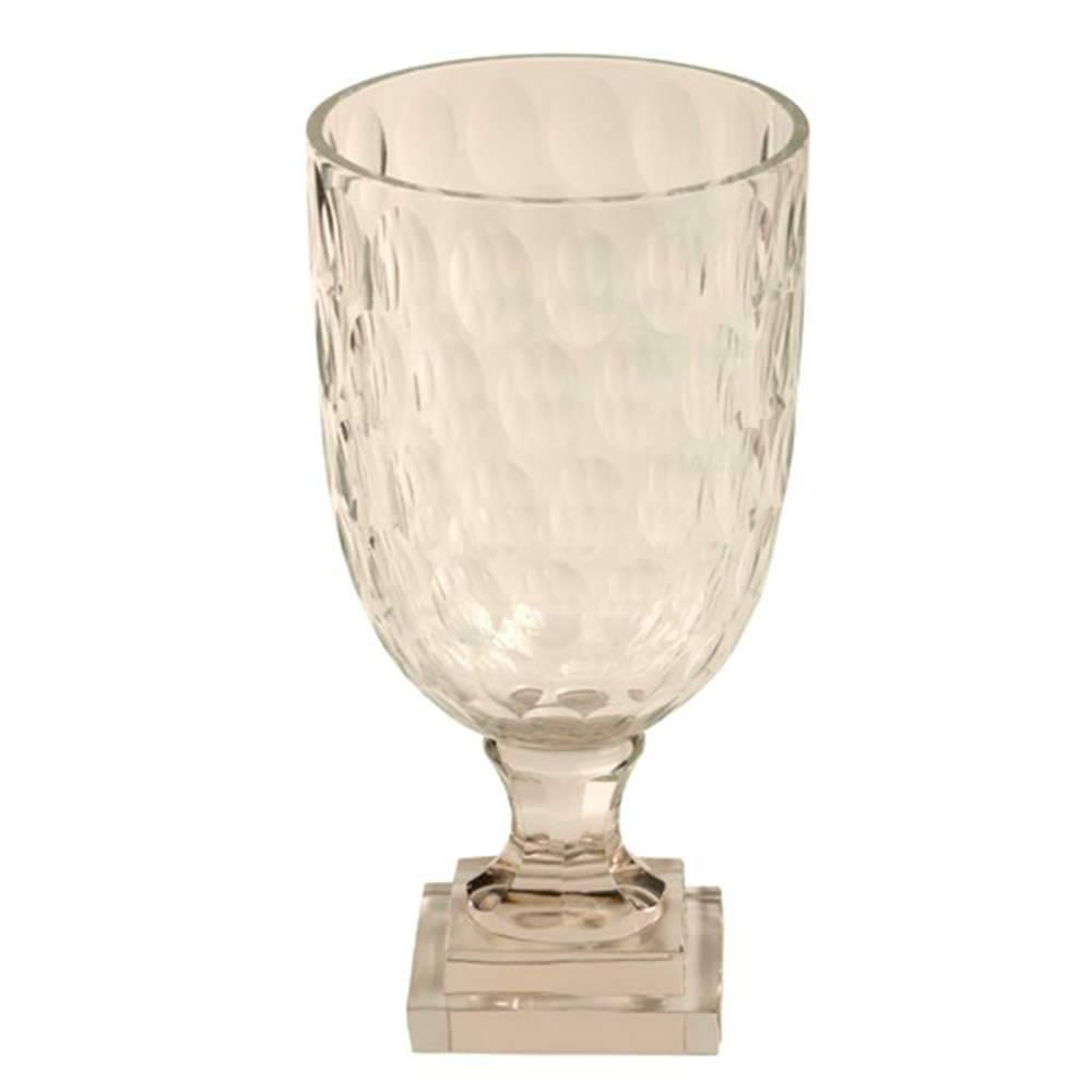 Vaso Moines Transparente em Vidro - 32x17 cm