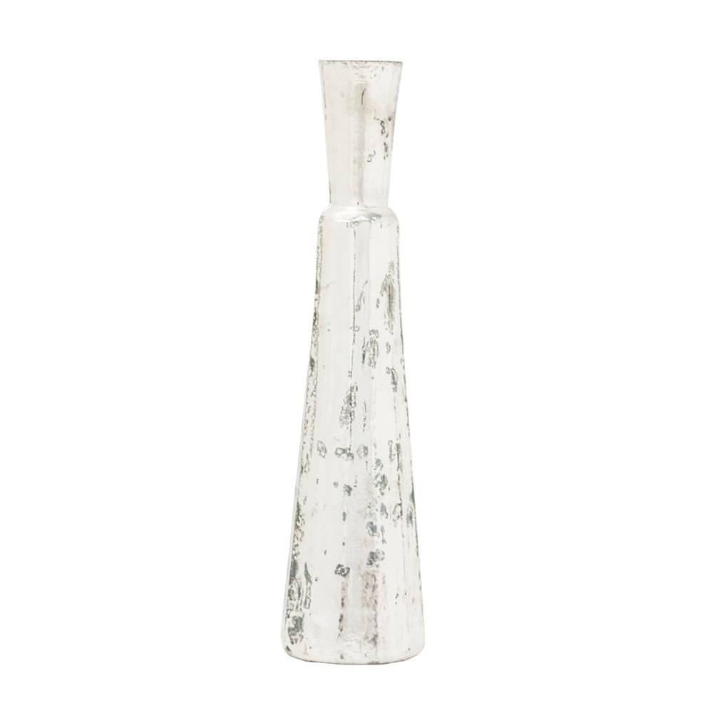 Vaso Murah Prateado Médio em Vidro - 25x8 cm