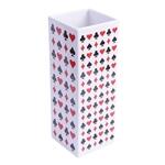 Vaso Naipes Grande em Cerâmica - 26x13 cm