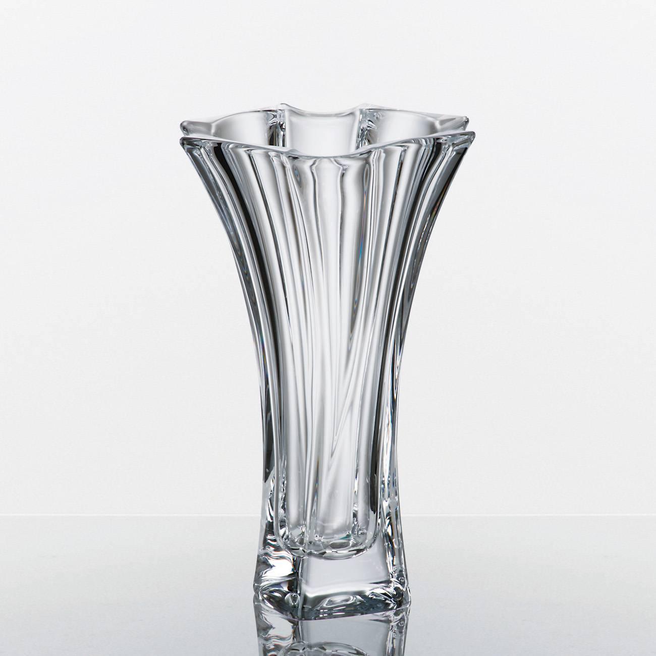 Vaso Neptun Acinturado em Cristal - Bohemia Crytalite - 26,5 cm