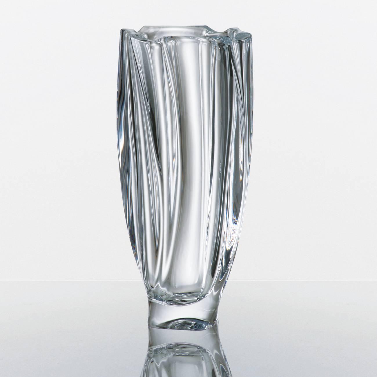 Vaso Neptun Bojudo em Cristal - Bohemia Crystalite - 25,5 cm