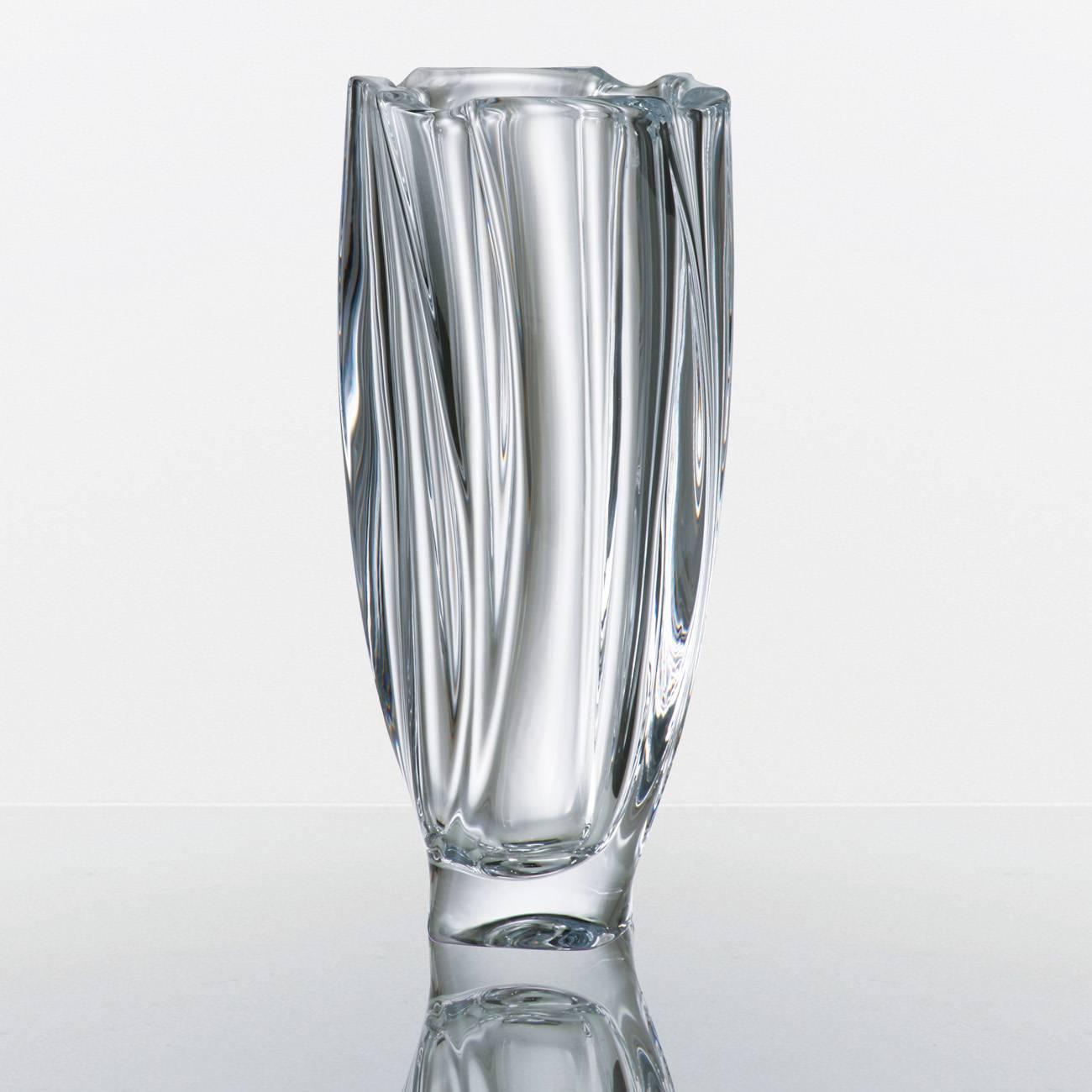 Vaso Neptun Bojudo em Cristal - Bohemia Crystalite - 30,5 cm