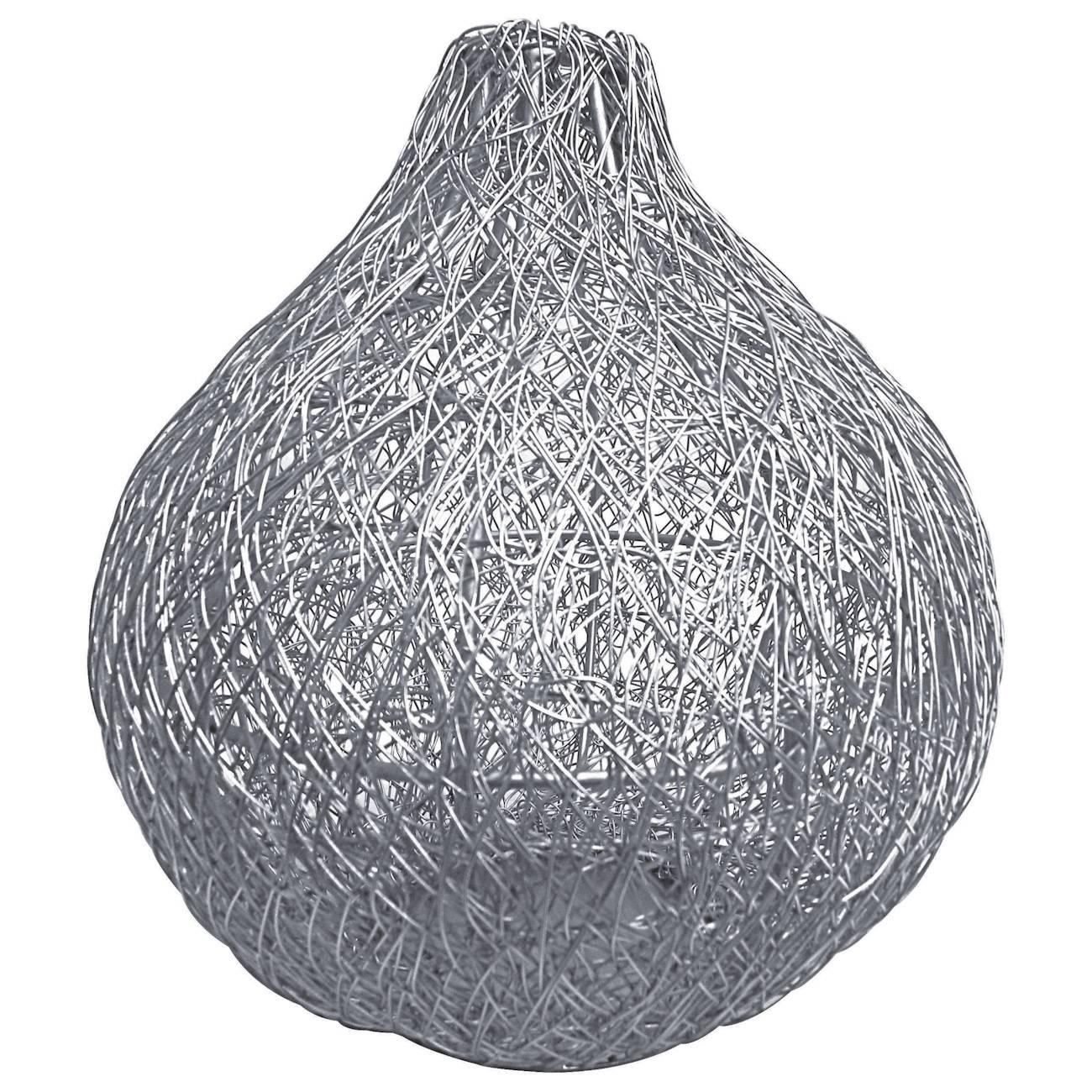 Vaso Nickle Prata em Metal - Prestige - 23 cm