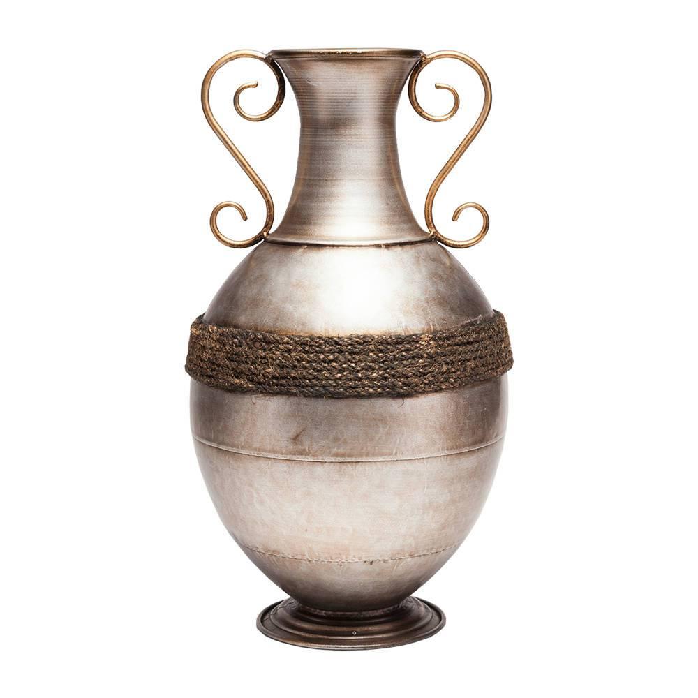 Vaso Niquelado em Ferro - Prestige - 45,6x25,2 cm