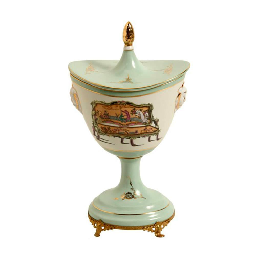 Vaso Old Verde Claro em Porcelana - 32x19 cm