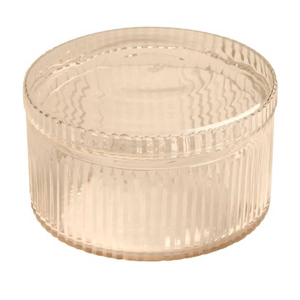 Vaso Ondulado Transparente em Vidro - 28x25 cm