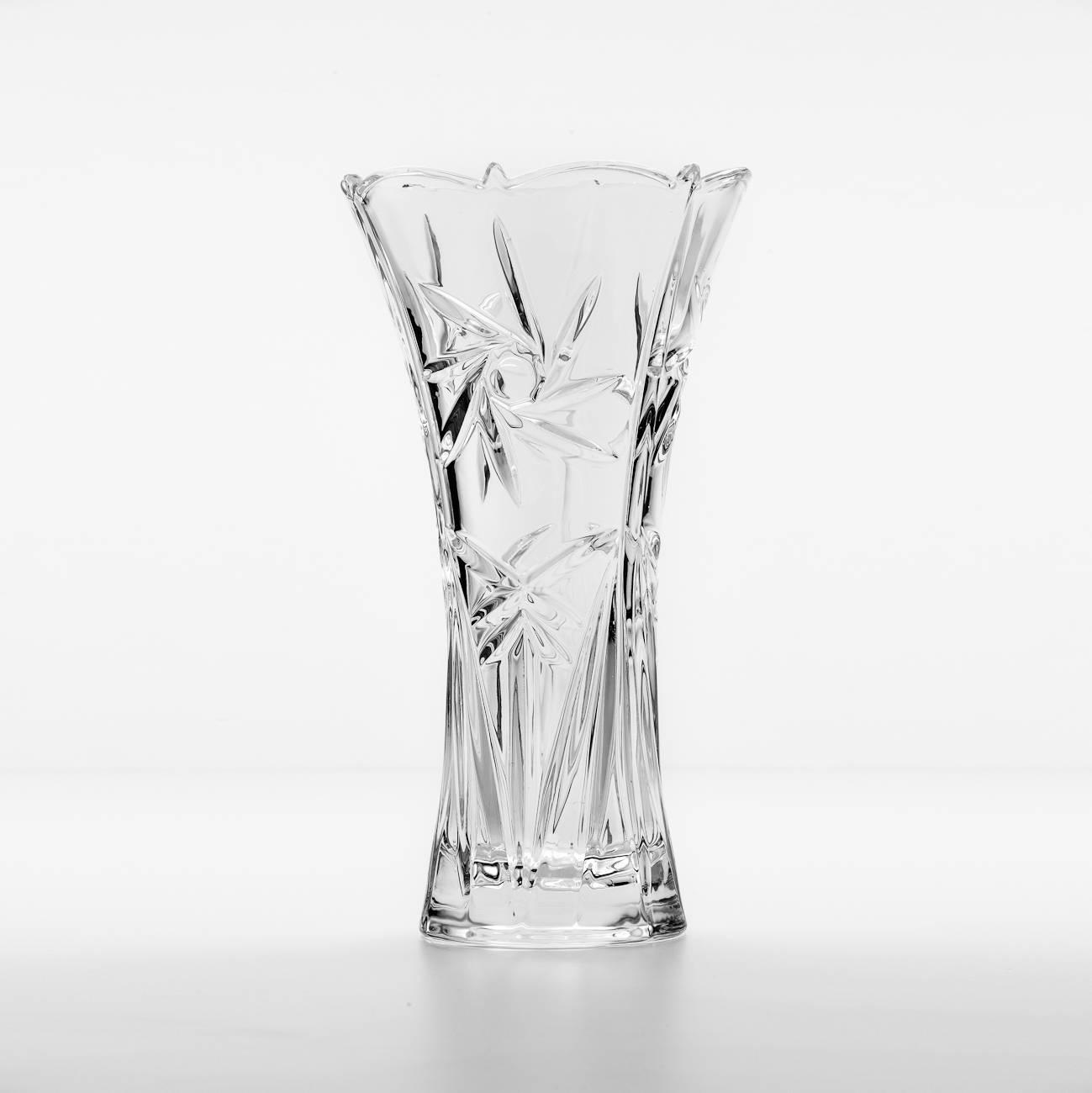 Vaso Orion c/ Relevo em Cristal - Wolff - 35 cm