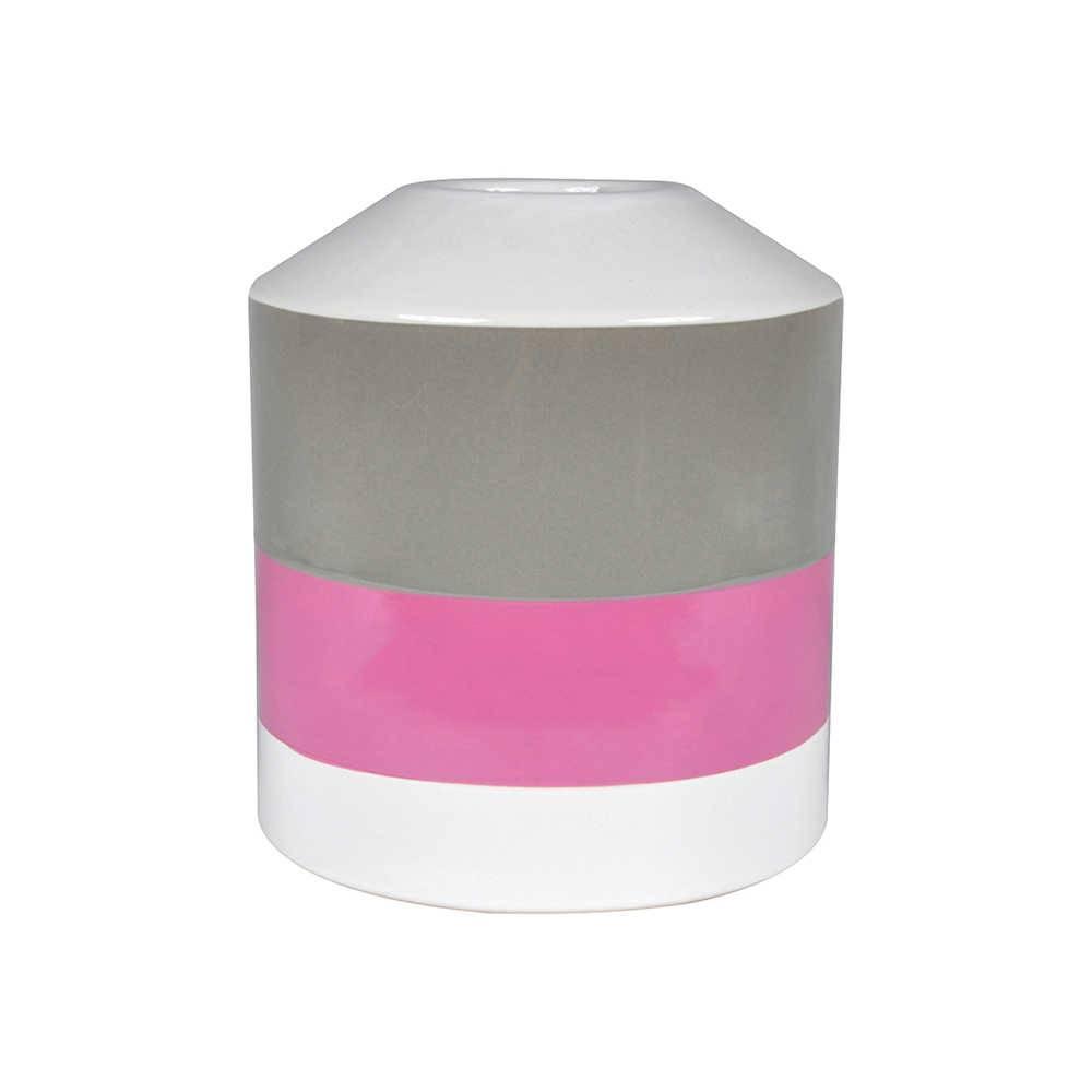 Vaso Pencil Pink em Cerâmica - Urban - 20x17,5 cm