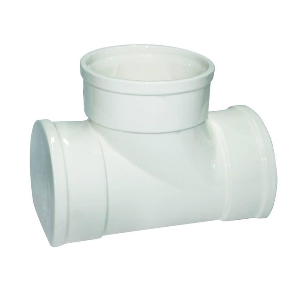 Vaso Plumber Connection 3 Saídas Branco em Cerâmica - Urban - 20x14,3 cm