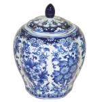 Vaso Pote Blue Spirit Bojudo Pequeno em Porcelana - Urban
