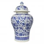 Vaso Potiche Tianjin Grande Branco em Porcelana - 42x24 cm