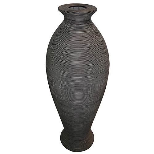 Vaso em Rattan Gray Grande Greenway - 140x50 cm