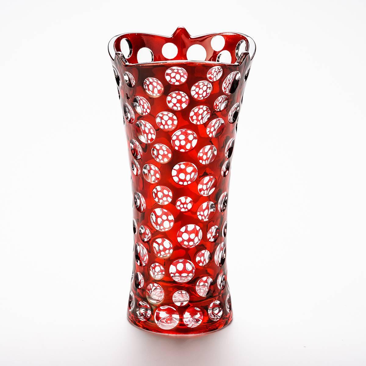 Vaso Poás Vermelho Grande - Prestige - 35 cm