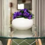 Vaso Redondo Spiron Branco em Cerâmica