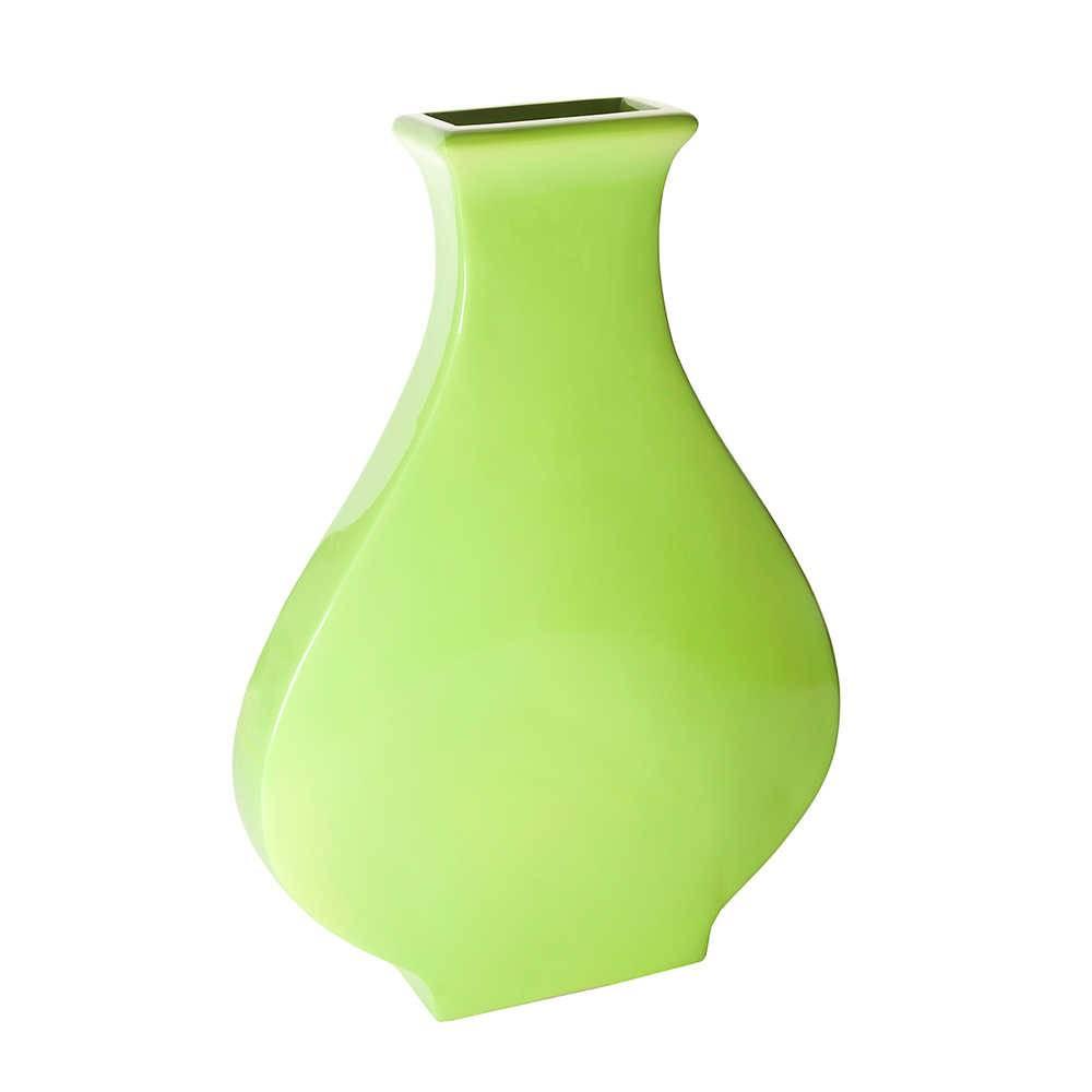 Vaso Regular Shape Verde em Resina - Urban - 49x33,5 cm