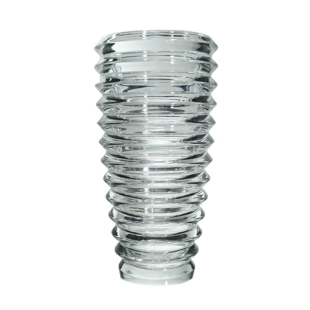 Vaso Reifen Grande Transparente em Vidro - 30x15 cm