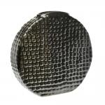 Vaso Round Croco Cinza em Cerâmica - 37x36 cm