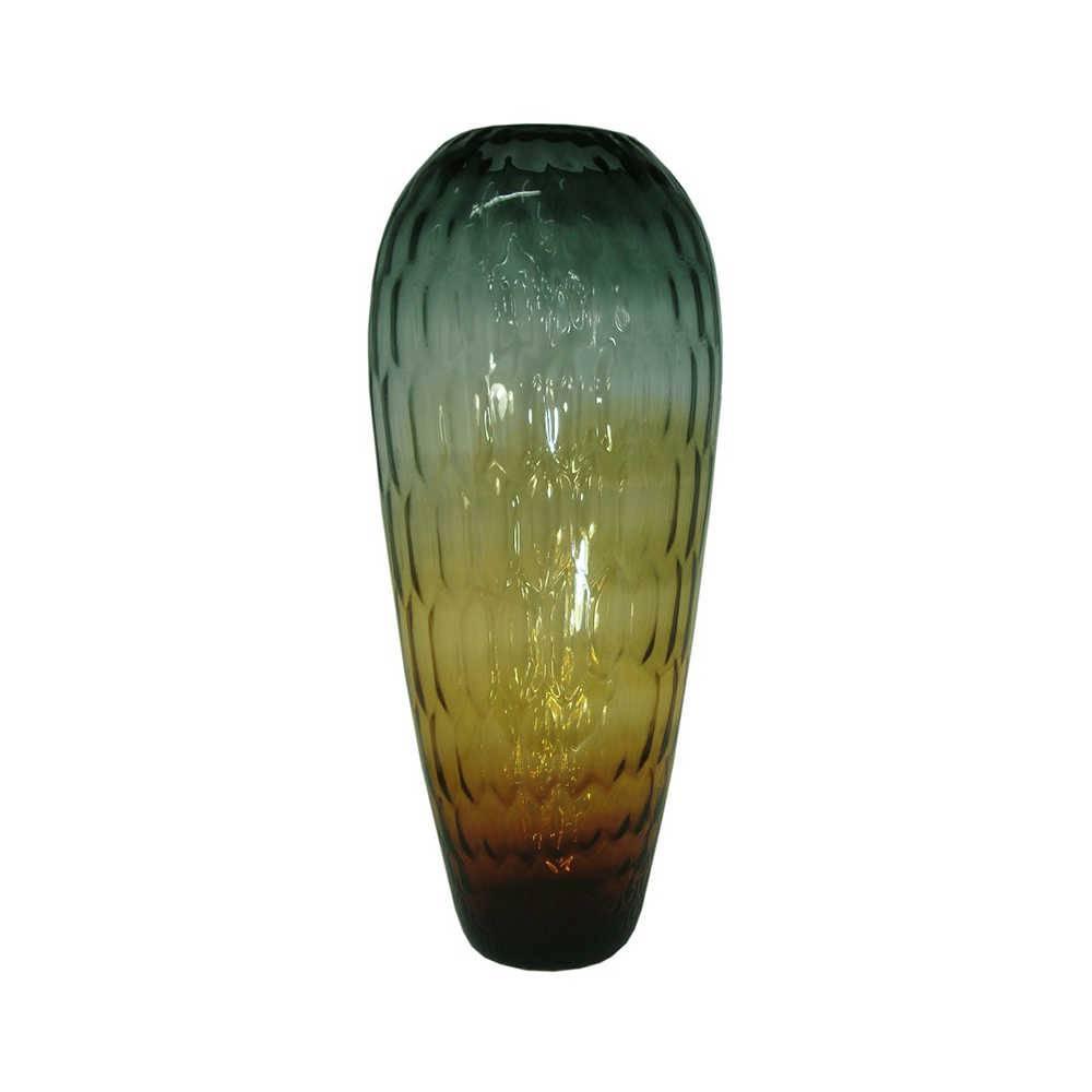 Vaso Scala Iris Grande Multicolorido em Vidro - 59x25 cm