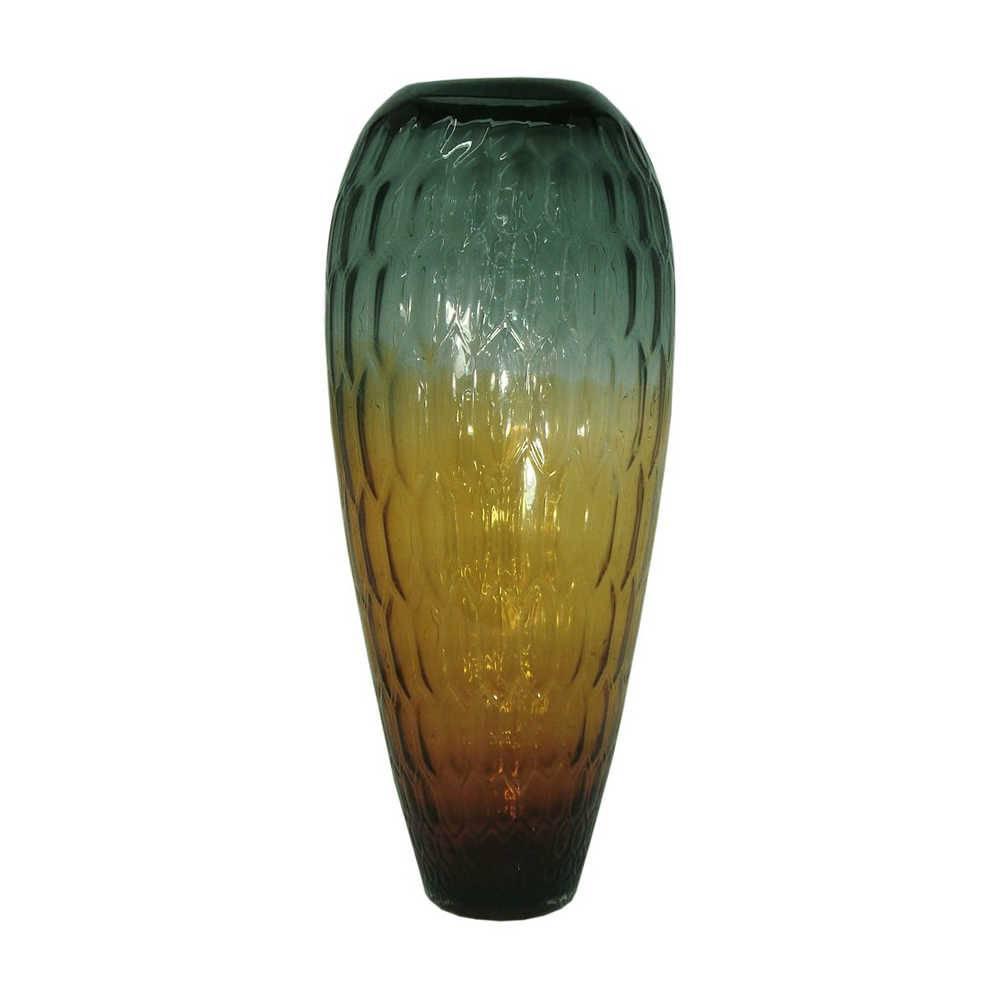 Vaso Scala Iris Médio Multicolorido em Vidro - 50x21 cm