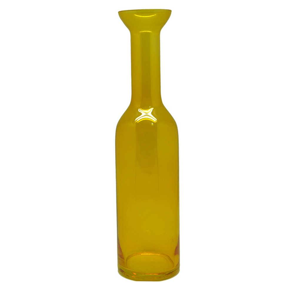 Vaso Science Amarelo em Vidro - Urban - 37x9 cm